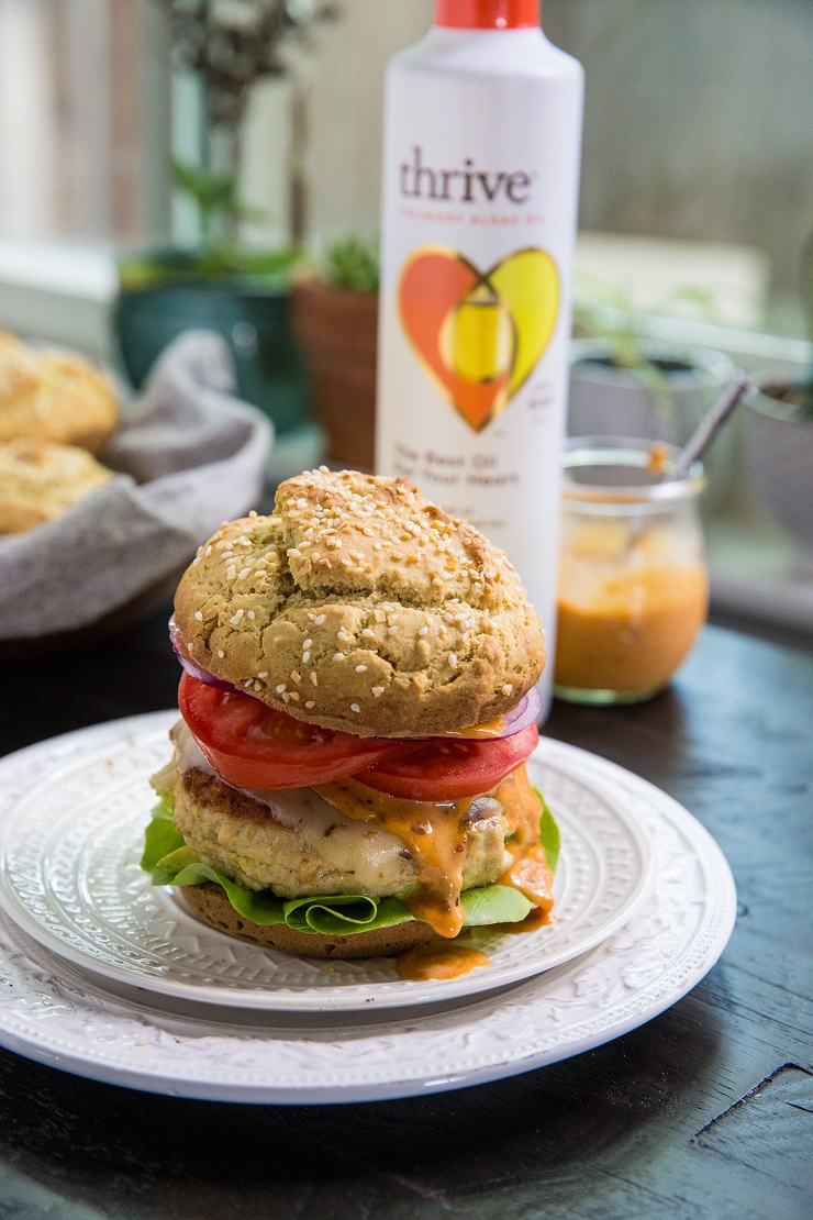 Avocado Stuffed Turkey Burgers with Chipotle Aioli - an incredibly flavorful and delicious burger recipe | TheRoastedRoot.net