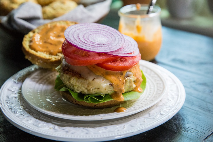 Avocado Turkey Burgers with Chipotle Aioli - an incredibly delicious burger recipe | TheRoastedRoot.net