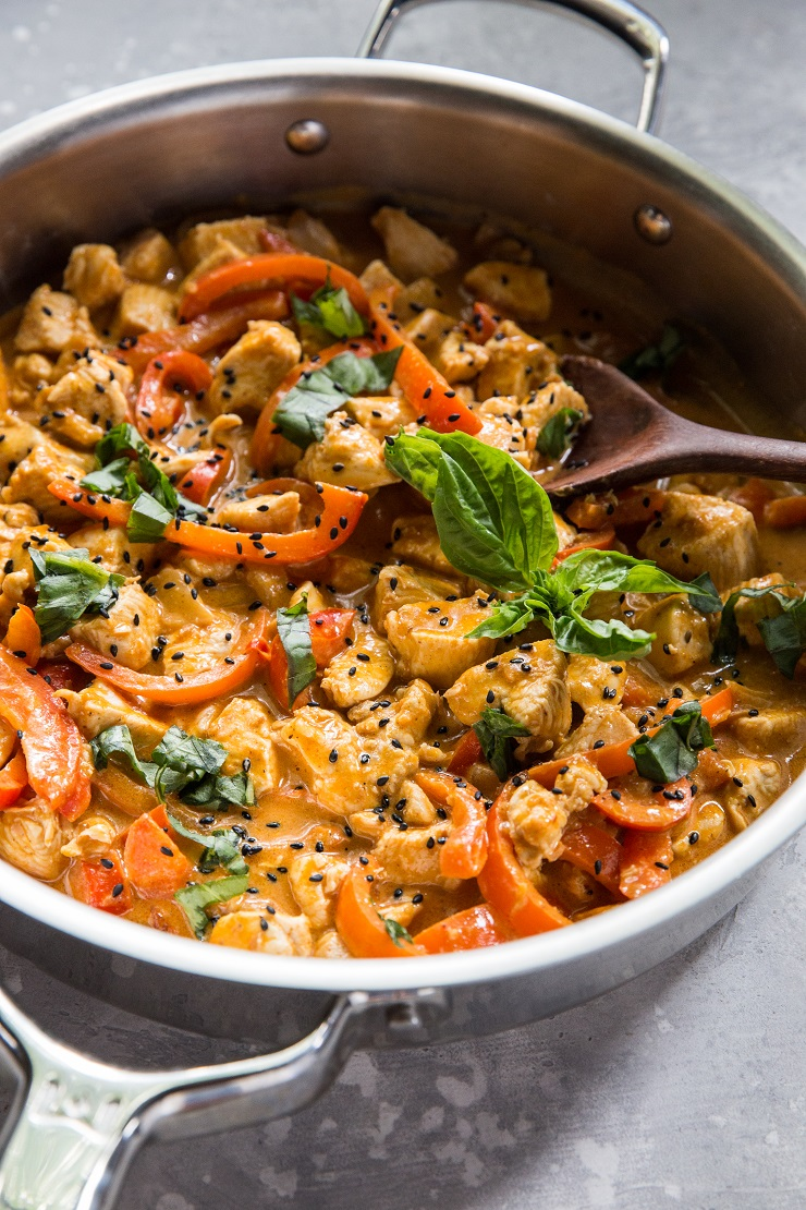 Paleo Thai Panang Curry - a quick and easy recipe for Thai curry | TheRoastedRoot.net