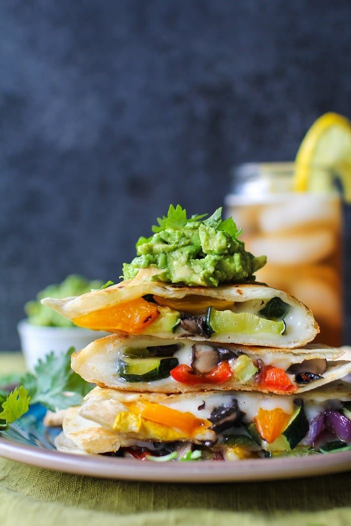 Grilled Portobello Summer Squash Quesadillas from The Roasted Root