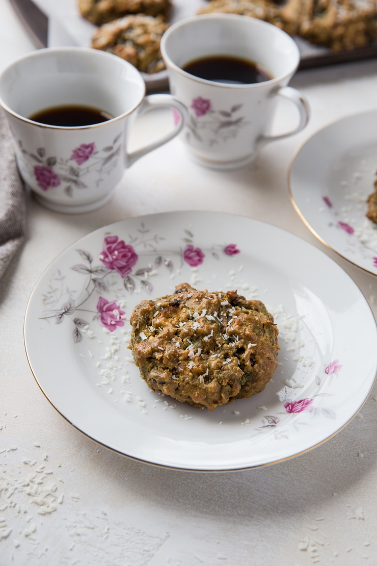 Grain-Free Paleo Morning Glory Cookies made with almond flour - a delicious, healthy breakfast or dessert | TheRoastedRoot.net