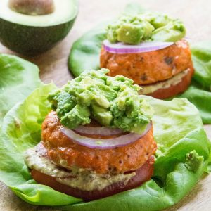 Easy Baked Salmon Burgers - gluten-free, low-carb, paleo, whole30, keto, delicious   TheRoastedRoot.net