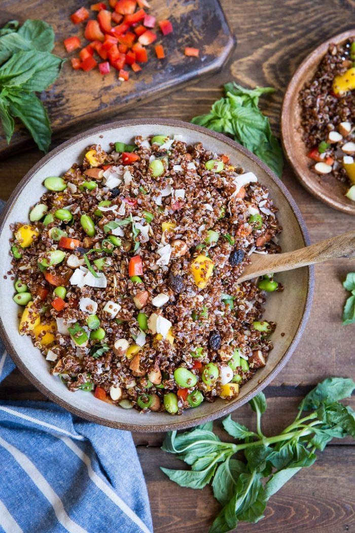 Mango Edamame Quinoa Salad from The Roasted Root