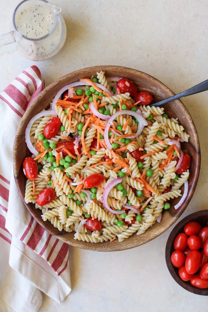 Pasta Salad with Lemon Poppy Seed Dressing from The Roasted Root