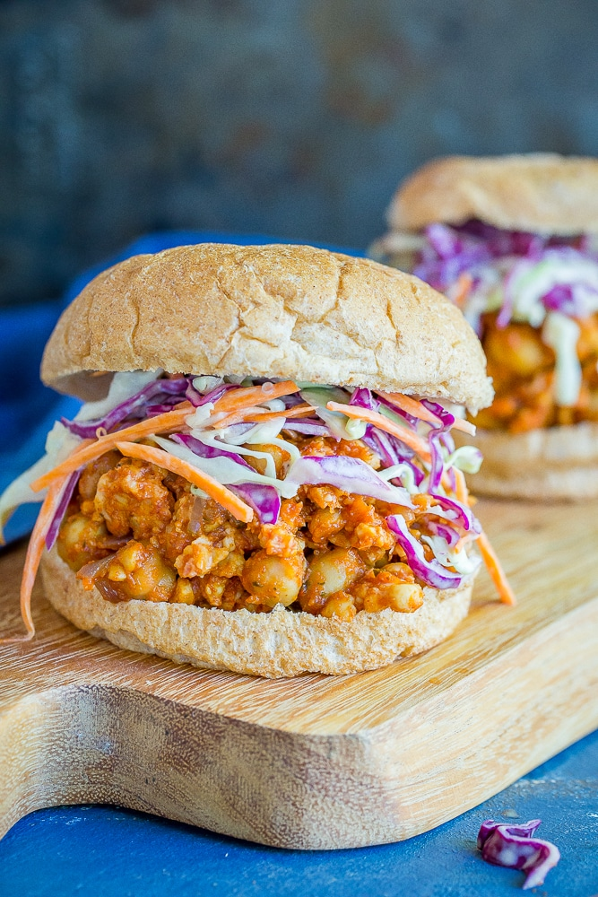 30-Minute Tempeh and Chickpea Sloppy Joes from She Likes Food