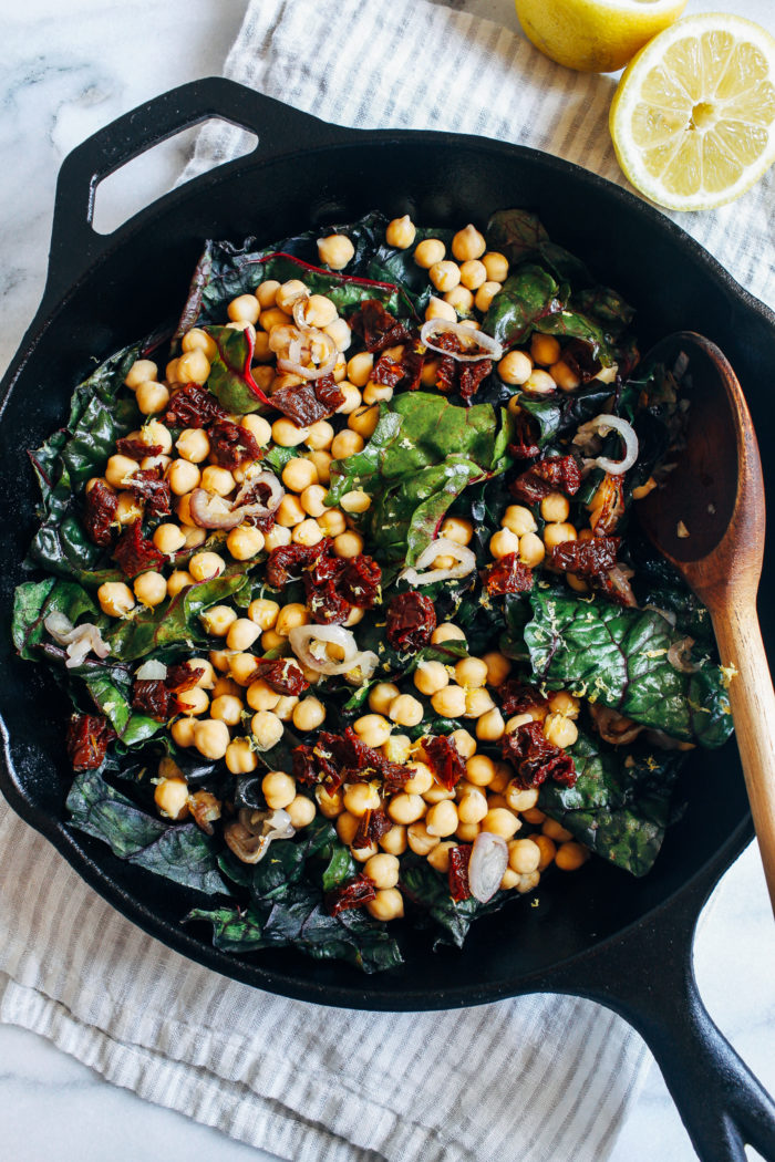 One-Pot Garlicky Chard with Chickpeas from Making Thyme for Health