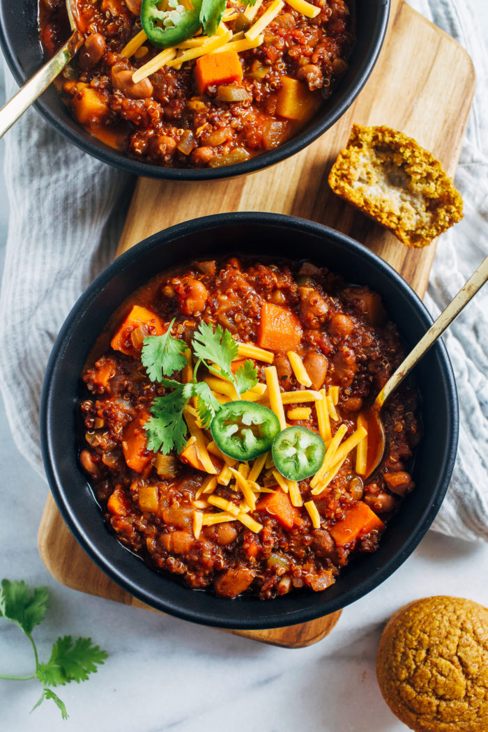 Butternut Squash Quinoa Chili from Making Thyme for Health