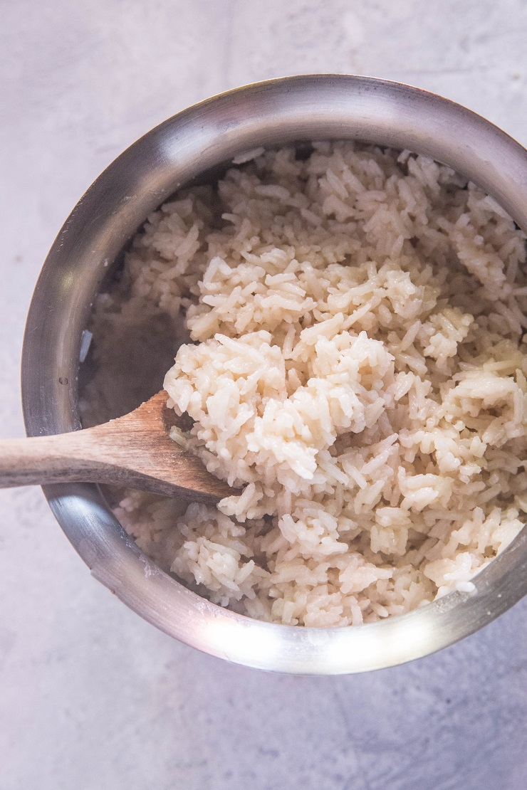 How to Make Coconut Rice - an easy and delicious approach to white rice that is ready in under 20 minutes! | TheRoastedRoot.net
