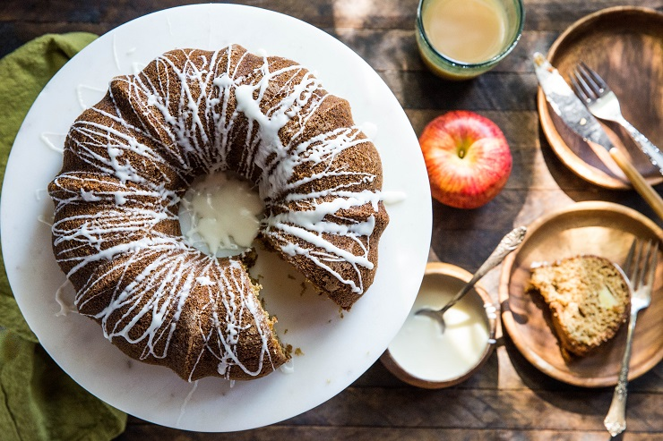 Delicious Gluten-Free Cinnamon Apple Bundt Cake made refined sugar-free, dairy-free and gluten-free | TheRoastedRoot.net