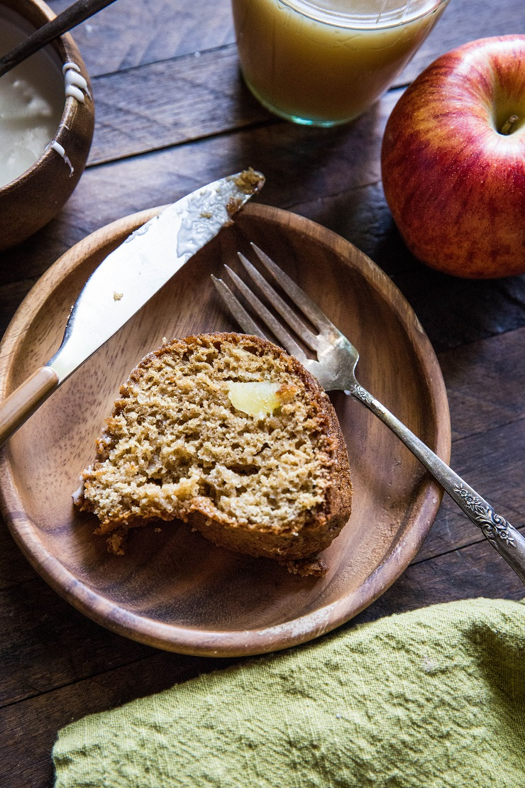 Gluten-Free Apple Cinnamon Bundt Cake made refined sugar-free, dairy-free, and delicious for serving to guests | TheRoastedRoot.net