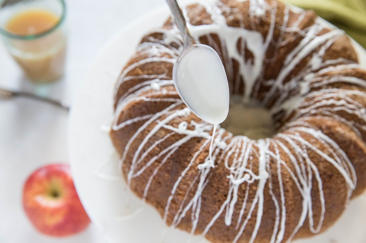 Gluten-Free Apple Bundt Cake with Glaze