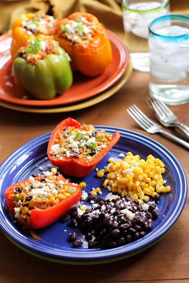 Southwest Stuffed Bell Peppers from from The Roasted Root
