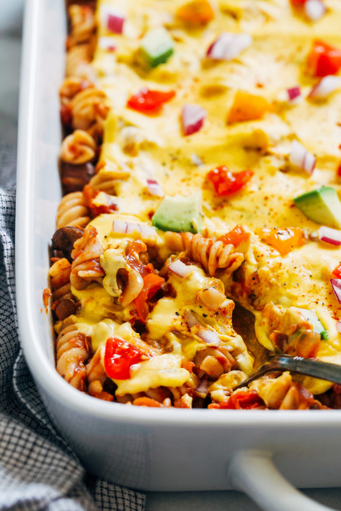 """Cheesy"" Lentil Chili Casserole from Making Thyme for Health"