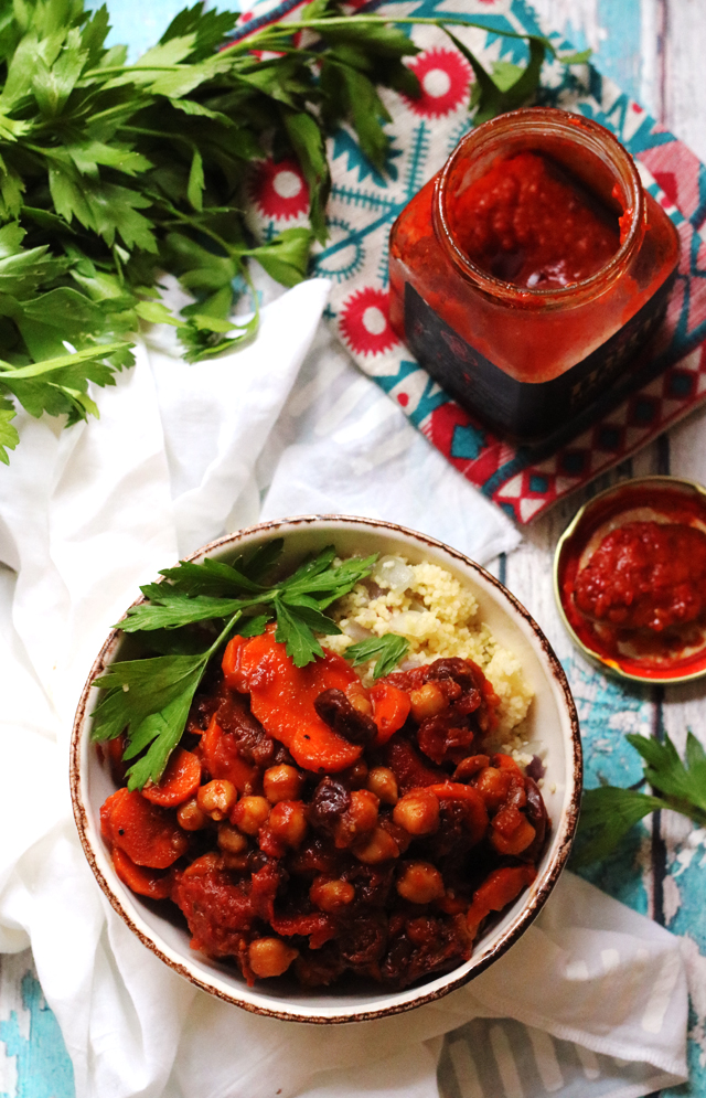 Moroccan Spiced Chickpea and Carrot Ragout with Couscous from Eats Well With Others